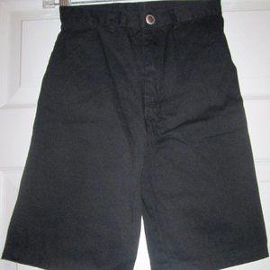 Mecca Black Flap Pockets Shorts Hip Hop Urban Sz 6